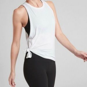 Athleta Essence Mesh Details Tank w/Side Slit NWOT